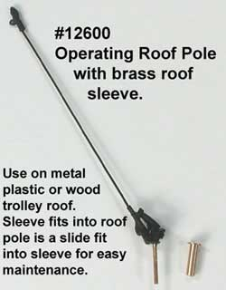Bowser HO Operating Form 11 Trolley Roof Pole w/pivot