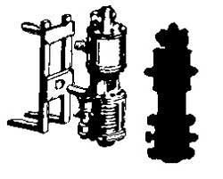 HO Scale Cal-Scale #6006 KC Cylinder w// Pipe