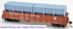 English's Model Railroad HO LCL Container - Hopper style  - 1 piece