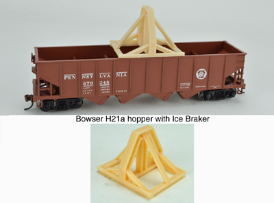 English's Model Railroad N Ice Breaker for Hopper car
